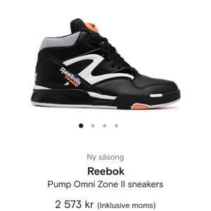 Säljer knappt använda Reebok the pump skor. Junior så storlek 35 men sitter som 37or. Bra skick! Hör av er vid frågor eller för fler bilder❣️