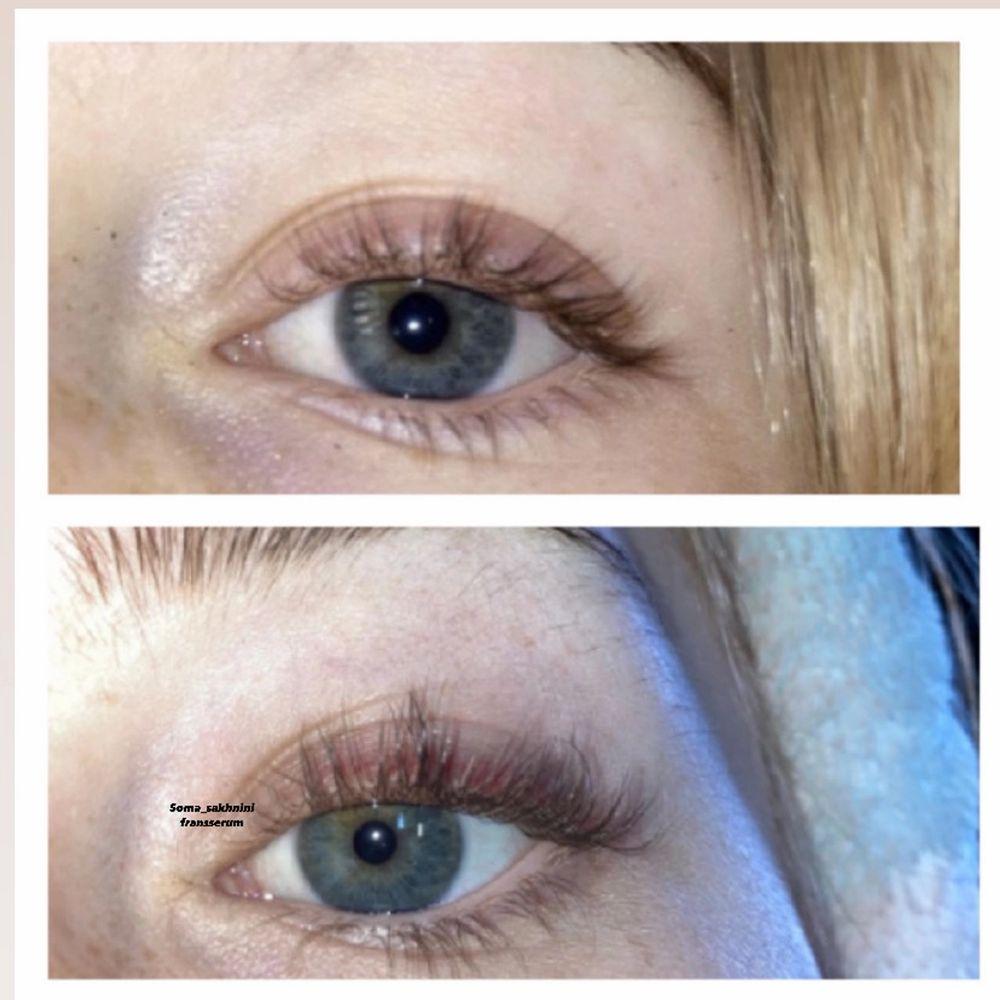 RESULTAT INOM NÅGRA DAGAR!💓                                                                        🎀Med detta högkvalitativa fransserum reparerar och ökar du antalet ögonfransar samt ökar längden på ögonfransarna genom dess aktiva ämnen.                                                                       🎀Den är gjord av Kokosolja, Jojoba olja, Ricinolja, Rosolja, Mandelolja Vitamin-E och Omega-3.                                     🎀Producerad med stor noggrannhet och hygien.                                                                          🎀Appliceras på dina ögonfransar och/ögonbryn på morgonen och innan du går och lägger dig.                                                                              🎀Tuben räcker upp till 6 månader.                                                                     🎀Längre och fylligare fransar redan efter 1-2veckor                                      🎀Före och efter bilden (19 Jan-1 Feb)!                                     🎀Ett extra gratis ögonfransborste i paketet.                      Nu för 50kr bara💗63kr inkl frakt💗.                                              Skriv gärna en kommentar på att du har skickat PM💗. Övrigt.