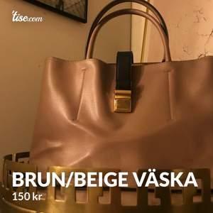 säljer denna snygga Brun/beige väska, 150kr🥰