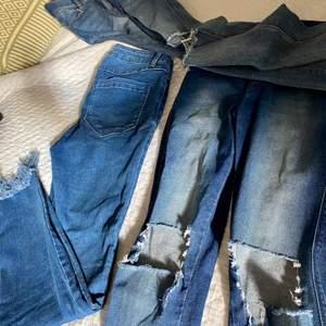 Säljer tre blåa jeans för 200kr. Orginalpris 400kr styck! Alla är i jättebra skick också.