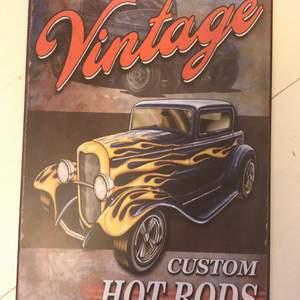 Vintage poster i metall köpt i somras. Säljer pga att den inte riktigt är min stil.