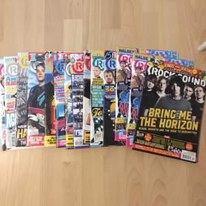 Rock Sound tidningar i bra skick, alla affischer är kvar i! Skriv pm för mer info vilka nr som finns/vilka band du är intresserad av ❣️ 60kr/styck då ingår frakten!! Köp 3 för 145 (frakt ingår) mer mängdrabatt går att ordna!