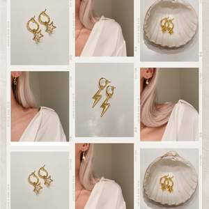 Suuperfina örhängen i guldfärg ✨ Fria från nickel! Finns flera exemplar. Se mer på insta: moon.jwlry 🌙✨