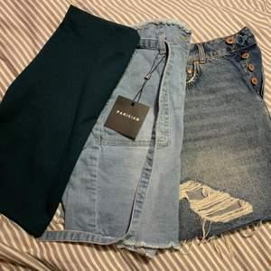 Alla kjolar i ett jättefint skick och den gröna och den med snörning är aldrig använda. Säljer alla för 150 kr inklusive frakt, en för 60kr då köparen står för frakt
