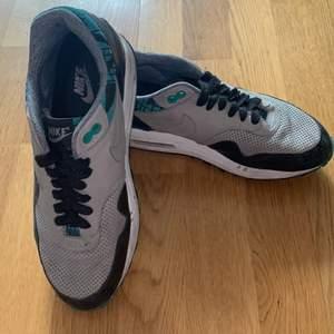 Ett par fina Airmax Nike 90 herr, med färg grön svart o lite gråa väldigt coolt färg 👟🌸