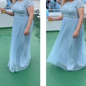 Ljusblå klänning, balklänning, proom dress🤩