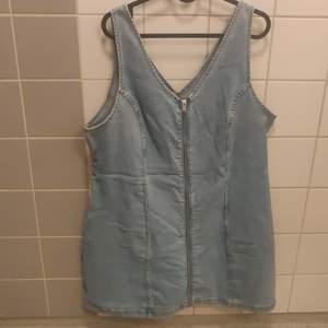 Short denim dress with zipper, XL