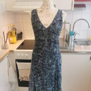 Denna auktion avser en klänning i blåa skiftningar från Mexx i storlek 36. Väldigt fin till sommaren. 100kr eller kom med bud 🌸