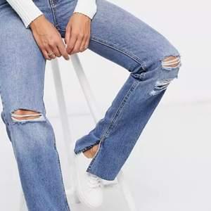 Helt oanvända pull & bear jeans passar 38 och passar, sitter snyggt på mig som har 36.