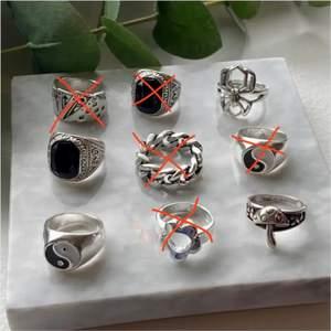 säljer dessa coola chunky ringarna! 😆 39kr styck, frakt 13kr 💛