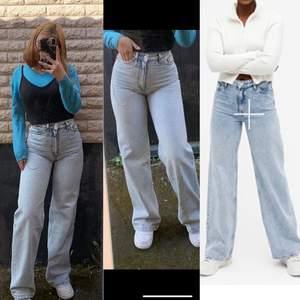 Lightblue yoko jeans från Monki i strl 24. Skitfina men för småa. 250kr + frakt är använda Max 5gånger