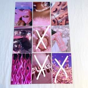Baddie foton som är 15x10 cm stora. Fotona är styva glansiga och alltså inget vanligt papper. 10kr st👛😺✨