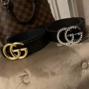 Gucci skärp 200styck, båda för 350