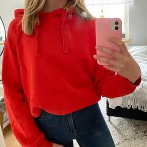 Röd hoodie från Gina Tricot i S. Frakt tillkommer. Hör av dig vid intresse!