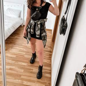 Cute black mini dress, jacket can be bought as well!