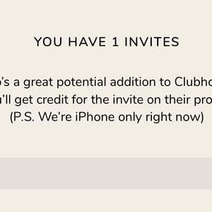 Min sista inbjudan till Clubhouse!