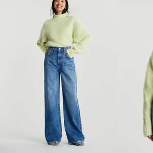Blåa Idun wide jeans från Gina tricot. Oanvänd och lappen är fortfarande på. Originalpriset är 599 men säljer för 300 kr. Fri frakt.