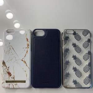 Vänster: Idealofsweden mobilskal iPhone 6 80kr               Mitten: Holdit mobilskal iPhone 6 50kr                                     Höger: Mobilskal med ananasmönster 20kr                               Alla skalen är i bra skick