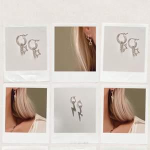 Suuperfina örhängen i silverfärg ✨ Fria från nickel! Finns flera exemplar. Se mer på insta: moon.jwlry 🌙✨