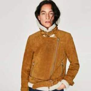 Zara suede aviator tan jacket. Fits s-m
