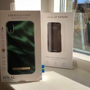 Oöppnat skal och skärmskydd från Ideal of Sweden, skalet är för IPhone XR och skärmskyddet för både IPhone 11 och XR. Ordinariepris för båda produkterna är 550kr, jag säljer båda två för 280kr och var o en för 150kr styck.✨❤️ Skriv vid frågor, frakt tillkommer💕
