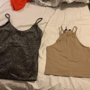 Två festligare linnen som passar dels till fest men funkar även till helgen eller vardagen! Båda passar xs/s men som ni ser är de lite olika i modellen. Ena från Nelly och andra från Cubus