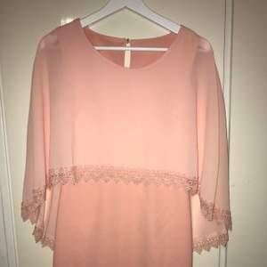 pink dress with cape and lace new