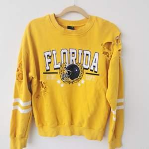 Så cool gul sweatshirt med