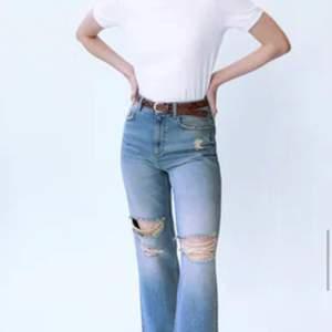 Sjukt snygga jeans ifrån zara dessvärre padde de inte mig 🥺