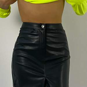 Leather looking skirt from weekday