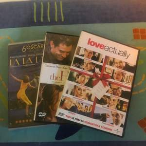 Säljer The Holiday, La La Land och Love, Actually på dvd. 20 kr för en eller 50 kr för alla tre:)