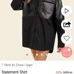 Säljer denna skjortklänning, aldrig använd. Prislapp kvar