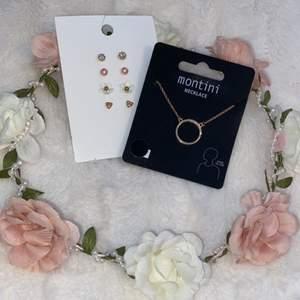 Säljer dessa söta accessoarer! Örhängena och halsbandet är oanvänt och blomkransen har jag endast använt 2 ggr. Pris kan diskuteras!