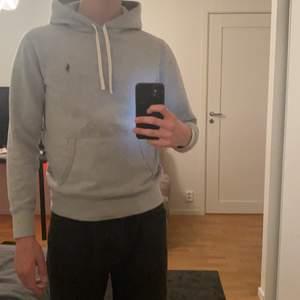 En grå ralph lauren hoodie. Skick 9/10 och rätt liten i storleken, nypris 1500 budgivning den 300 eller köp direkt för 650kr ( höjs med 50kr och fläckarna på tröjan är av ljuset)🙂