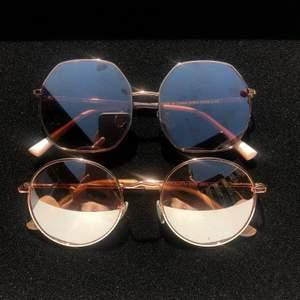 Två olika solglasögon i roseguld från ASOS. 120kr styck!