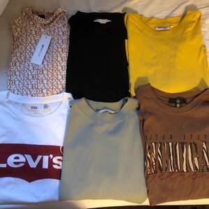 Säljer alla i ett paket. Alla är i bra skick och vissa helt nya. De är från: weekday, Levis, missguided, Nelly, HM och Gina Tricot