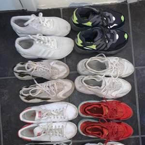 Massa olika skor, olika använda och i storlekarna 37-40, hör av dig med frågor!