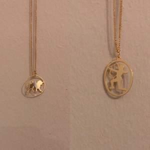 Två fina helt oanvända halsband för ett lejon och en skytte. De kostar 20kr styck:).                                       ‼️LEJONET ÄR SÅLT‼️
