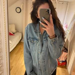 Jeans jackan, fin material