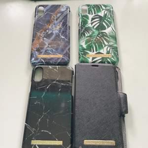 Jag säljer mina gamla Ideal of Sweden skal till iPhone X/Xs då dessa skal inte passar min mobil längre. Skalen är i bra skick och har inte använts så mycket. Priset för 1 skal: 50kr 2 skal: 80kr 3 skal: 115kr 4 skal: 130kr🥰 Alla dessa skal är magnetiska och är då perfekt till ett plånboksskal💕