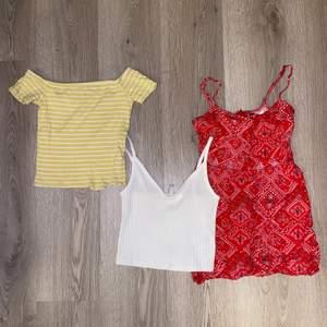 Dessa tre klädesplagg för endast 90 kronor! Tröjorna är xs och klänningen är 32 vilket är xs! 🥰 GRATIS FRAKT