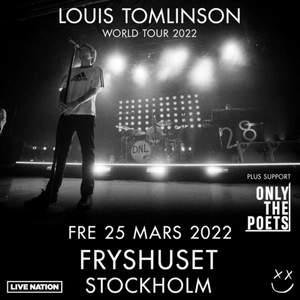 söker 1 eller 2 biljetter till louis tomlinson world tour 2022 i stockholm! kom privat så kan vi diskutera pris! spelar ingen roll om det är ståplats eller sittplats❤️
