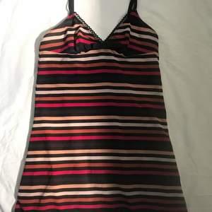 Jättefint linne köpt på secondhand! Knappt använt. Går att använda både som nattlinne och längre topp.