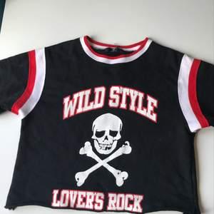 Lovers rock rare vintage croppad t-shirt