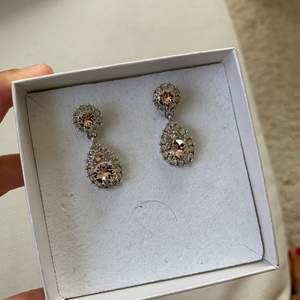 Örhängen från Lily and rose. I silver med rosa Sten. Använda 1 gång.