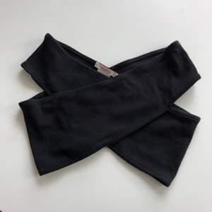 En snygg svart topp från Pulled & Bear i storlek S. Ribbat tyg. I fint skick! 50kr inkl frakt!