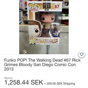 Pop vinyl gubbe från the walking dead