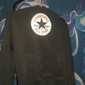 Black converse all star hoodie
