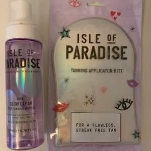 Isle of paradise , brun utan sol  i färgen DARK med en isle vante (applikator)