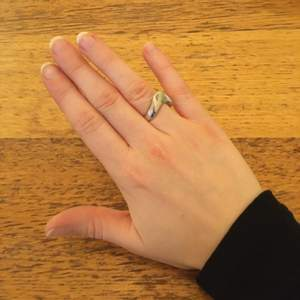 Äkta silverring i assymetrisk form, 17mm